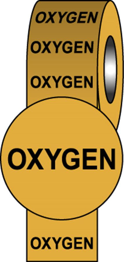British Standard Pipeline Information Tapes - Oxygen