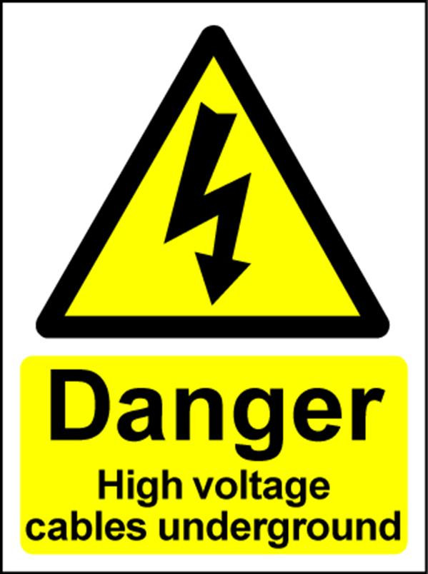 Electrical Hazard Warning Sign - High Voltage underground