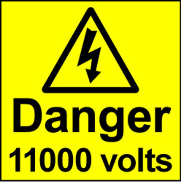 Electrical Safety Labels - 11000 Volts