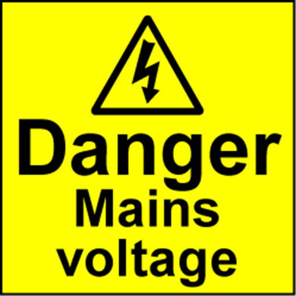 Electrical Safety Labels - Mains Voltage