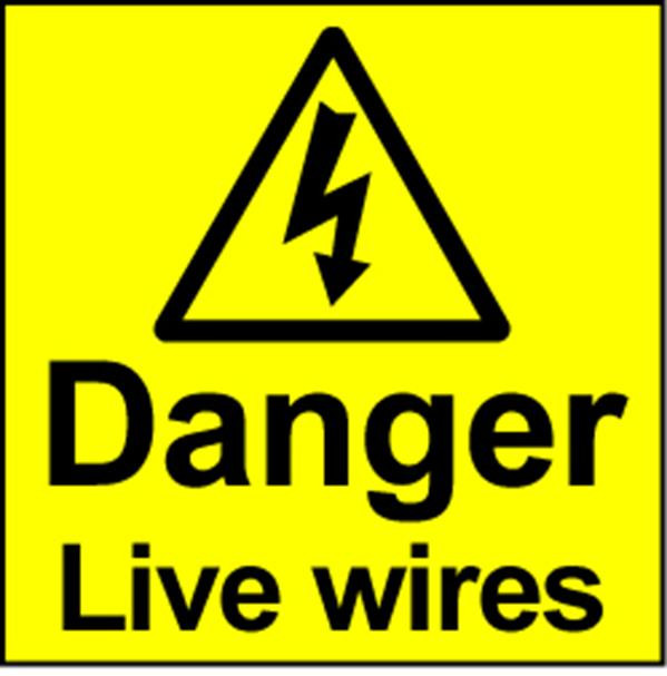 Electrical Safety Labels - Live Wires