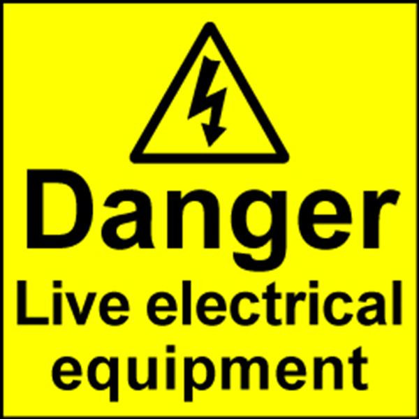 Electrical Safety Labels - Live Equipment