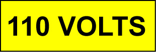 Voltage Labels (Pack 10) 20x60mm 110 Volts