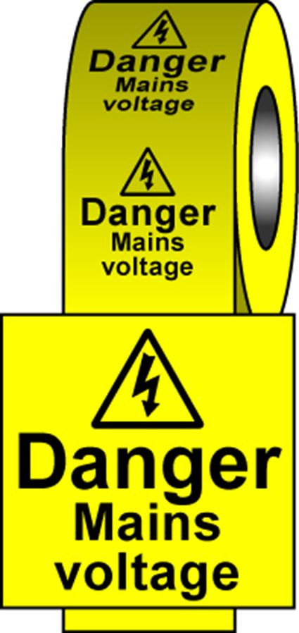Safety Labels - Mains Voltage