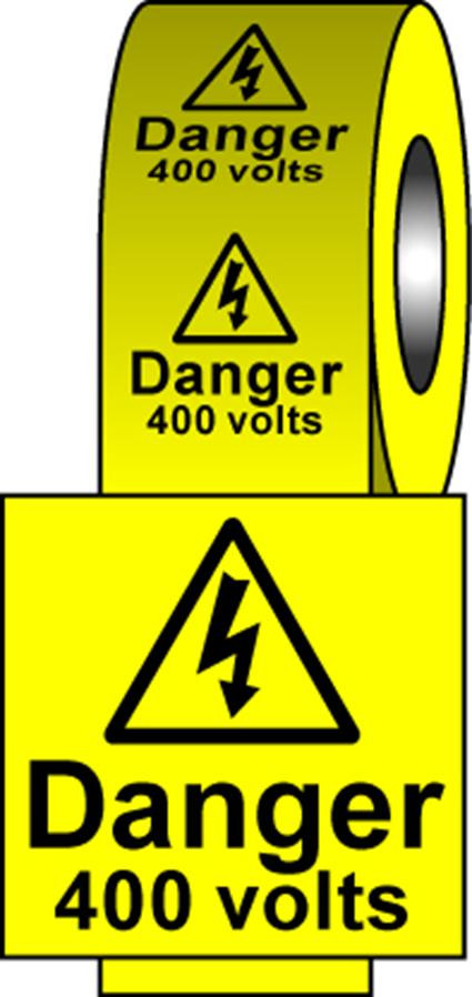 Safety Labels - 400 Volts
