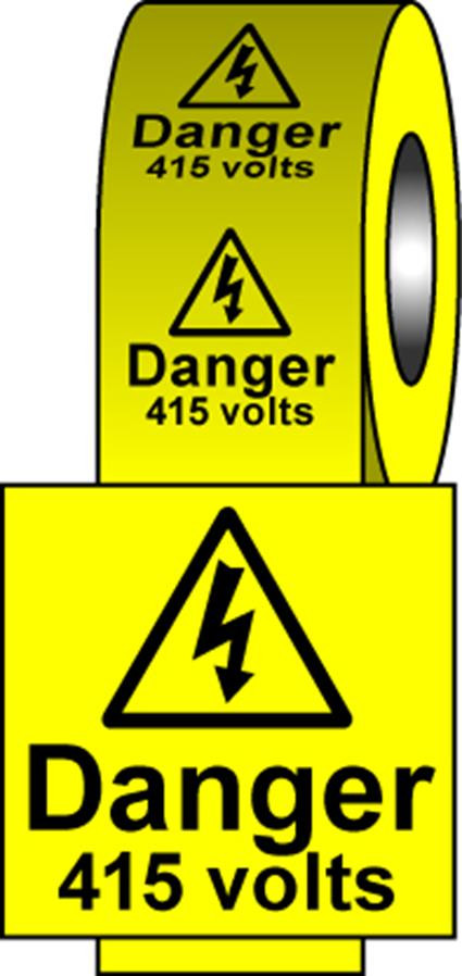 Safety Labels - 415 Volts
