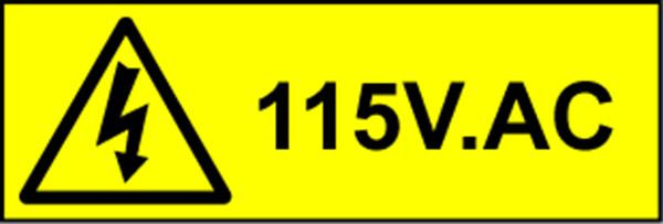 Electrical Safety Labels - 115V AC