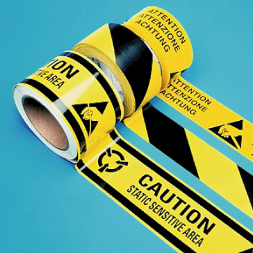 Striped ESD Hazard Tape