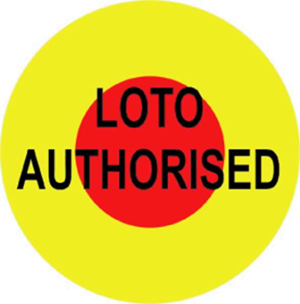 Loto Authorised Labels