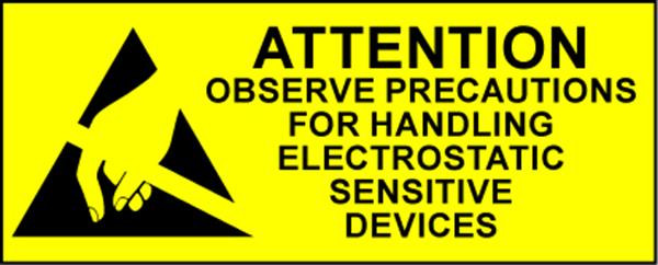 Electrostatic Labels - Attention - Small