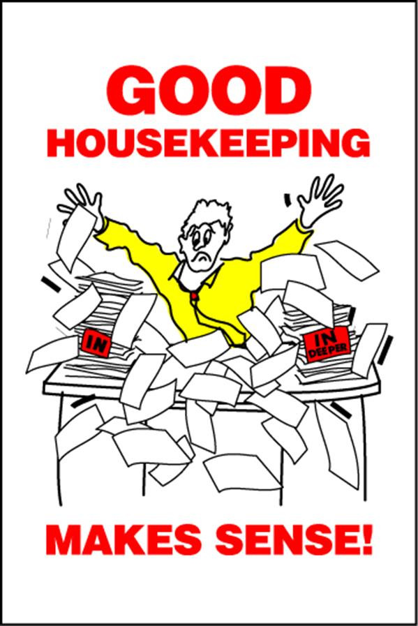 Housekeeping Posters - 'Good Housekeeping Makes Sense'