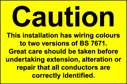 Label (single) 300x400mm s/a Caution This installation has