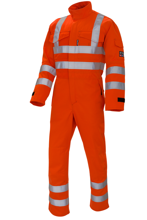 Arc Flash High Vis Orange Coverall 9.8cal/cm2
