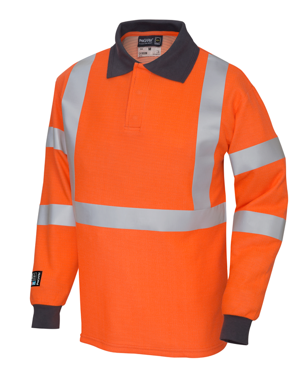 Arc Flash High Viz Orange Polo shirt