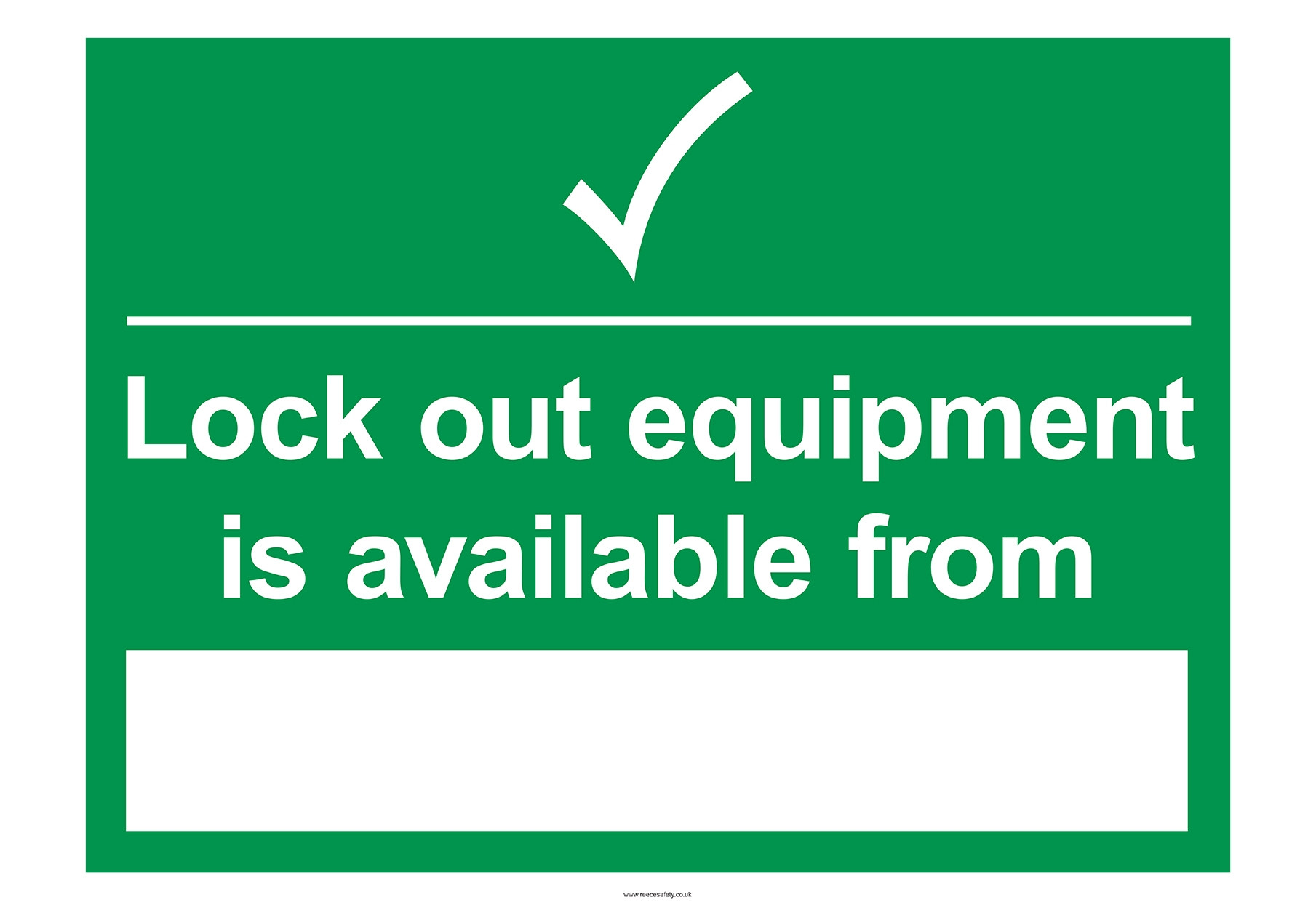 Rigid Lockout Wall Sign 450x600mm Lockout equipment is avail