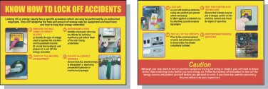Lockout/Tagout Safety Pocket Guide- 'Know How to Lock Off Accidents'