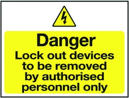 Magnetic Lockout Wall Sign 450x600mm Danger lockout devices