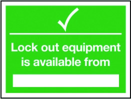 Rigid Lockout Wall Sign 450x600mm Lockout equipment available from