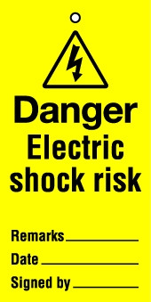 Lockout Tags Danger Electric shock risk. Pack of 10