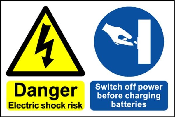 Danger Electric Shock - Safety Sign