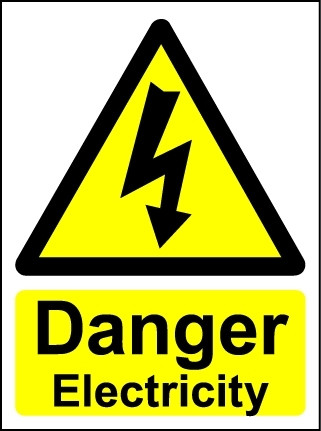 Danger Electricity - Safety Sign