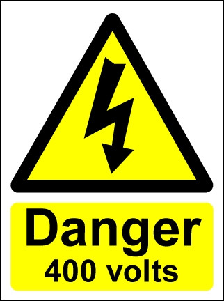 Hazard Warning Sign Danger 400 volts