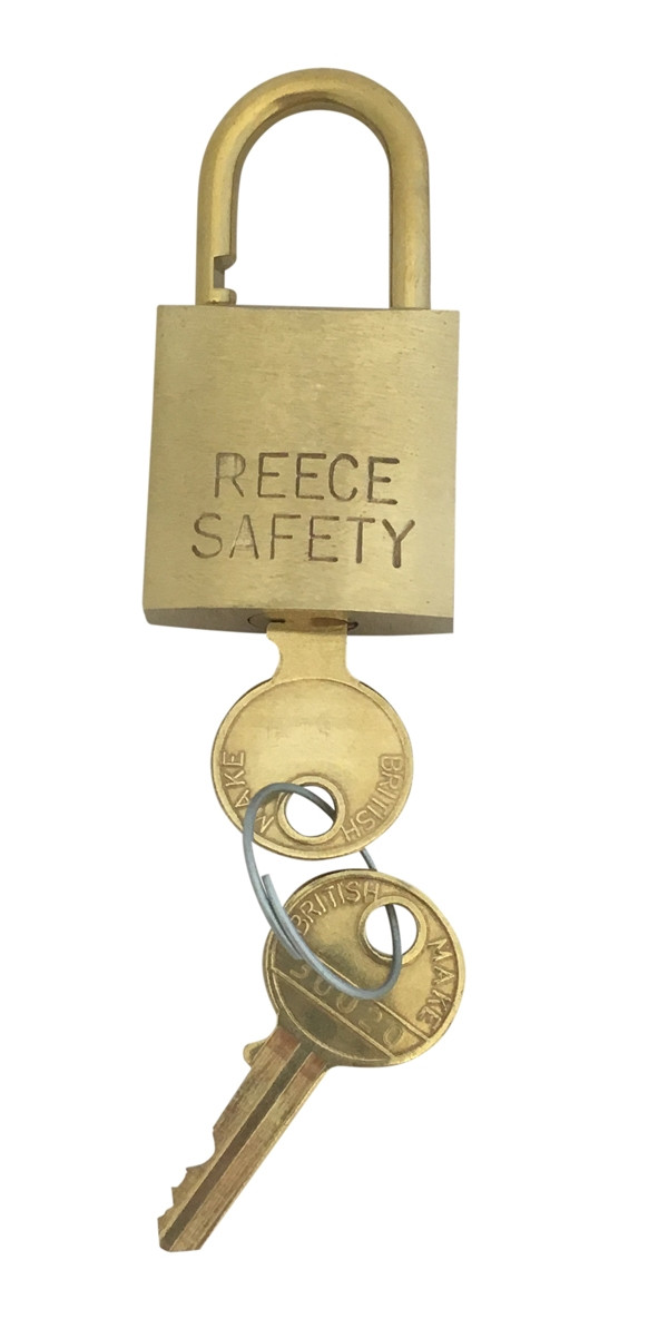 Brass 32mm body Safety Padlock-Keyed to Differ-Standard