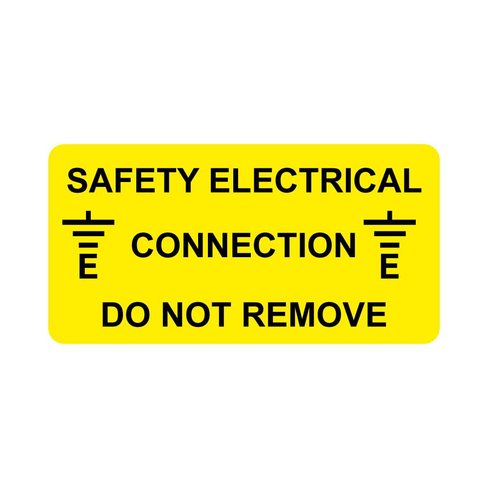 Safety Electrical connection, Do not Remove Label