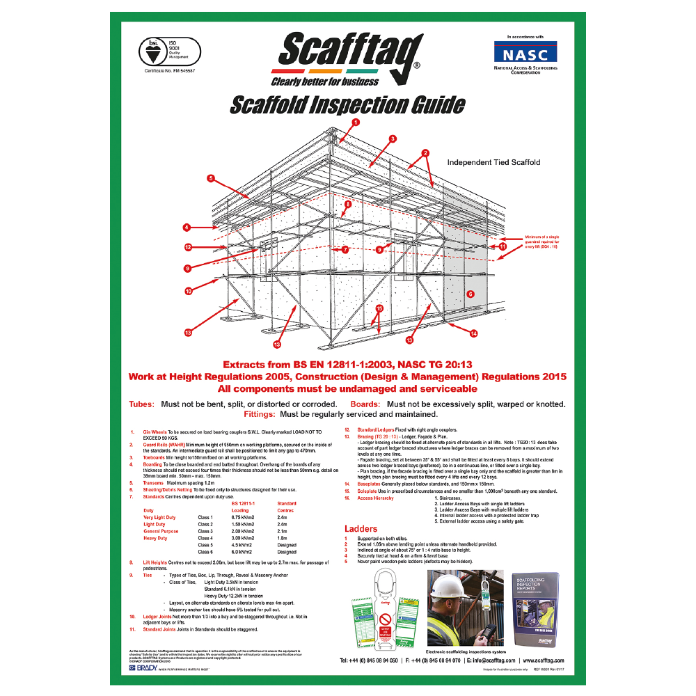 SCAF13 Scafftag for Scaffold Tagging - Wallchart