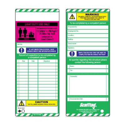 Load Classification Inserts - Light Duty - Purple - Pack of 50