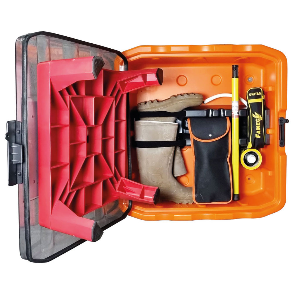 Wall mounted substation rescue kit