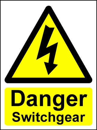 Hazard Warning Sign Danger Switchgear