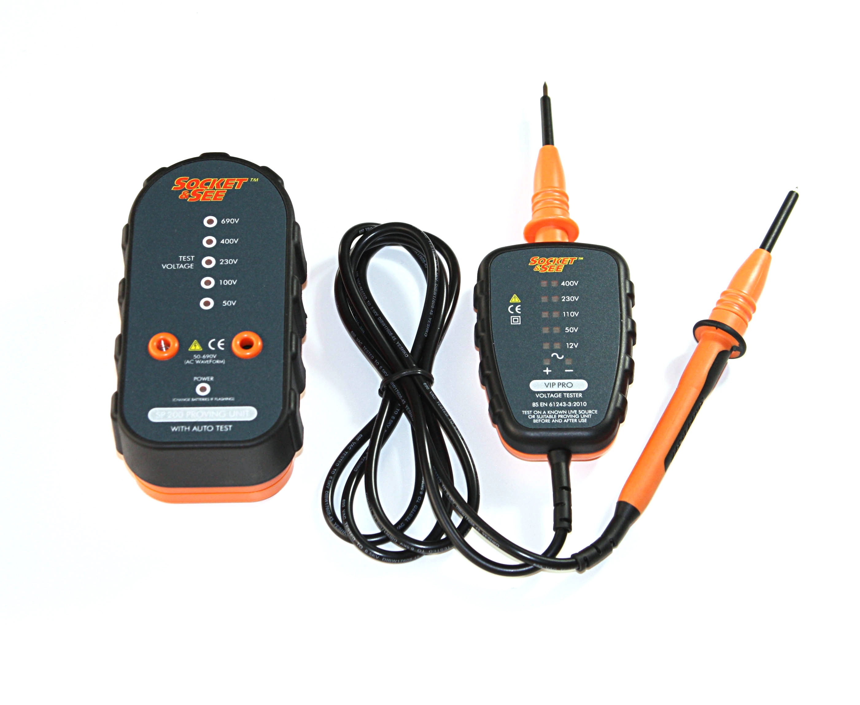 Socket and See VIP PRO Voltage Tester and SP200 Proving Unit