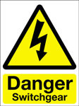 Hazard Warning Sign 400x300mm Danger Switchgear (rigid)