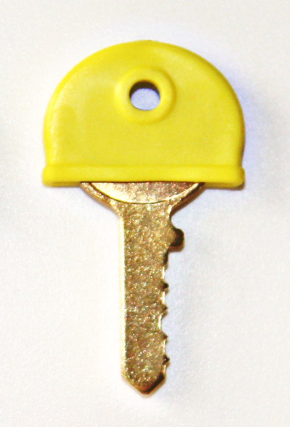 Plastic key cover yellow