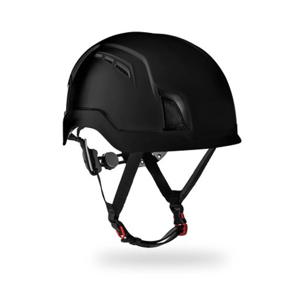 Ventilated Safety Helmet - Black