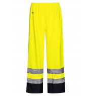 High Viz Arc Flash Yellow and Navy Waterproof Trousers 21.1cal/cm2