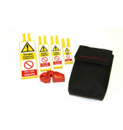 Redspot lockout kit with RFB5 blanking and inserts in pouch