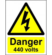 Hazard Warning Sign Danger 440 volts