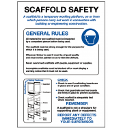 General Awareness Safety Posters - 'Scaffold Safety'