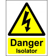 Danger Overhead Live Wires - Safety Sign