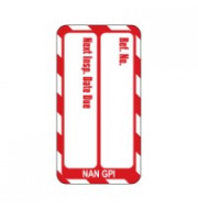 Nanotag Insert - Red - Next Inspection - Pack of 10