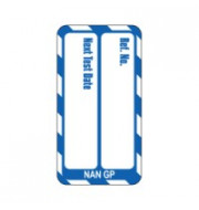 Nanotag Insert - Blue - Test Due - Pack of 10
