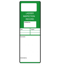 Ladder Inspection Record Safety message/maintenance tag