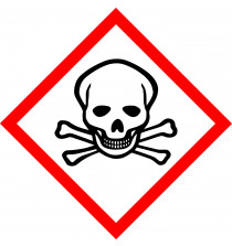 GHS ACUTE TOXICITY  sign 100mm x 100mm