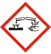 GHS CORROSIVE sign 40mm x 40mm