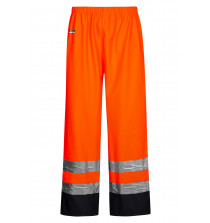 High Viz Arc Flash Orange and Navy Waterproof Trousers 21.1cal/cm2