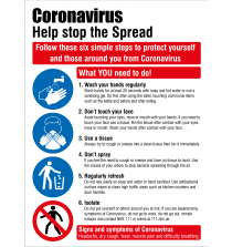 COVID19 Coronavirus Stop the spread sign