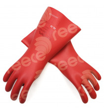 Insulating Latex Gloves 360mmL x 1.0mm thick 1000v Class 0 RED