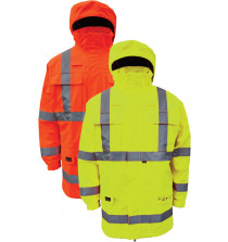 High Viz Arc Flash Yellow Waterproof Jacket 42.2cal/cm2